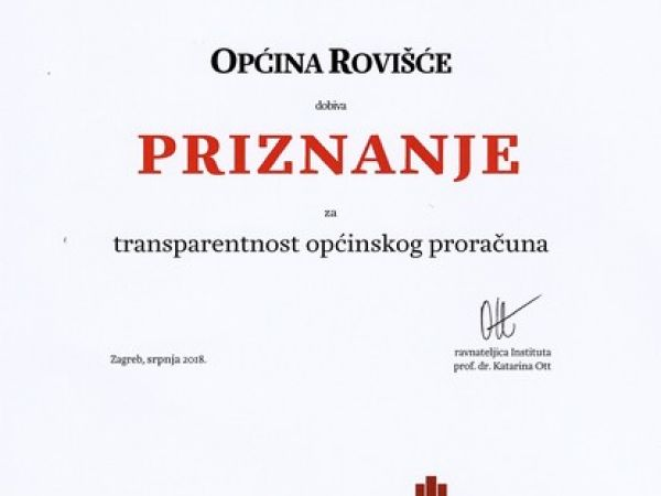 Priznanje Instituta za javne financije